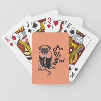 El barro amasado atractivo es el Pin real encima Cartas De Póquer