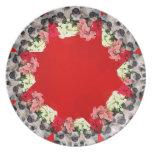 El barro amasado del navidad persigue la placa de plato para fiesta