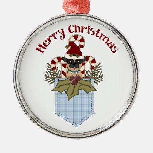 El barro amasado dulce del navidad embolsa el azul adornos