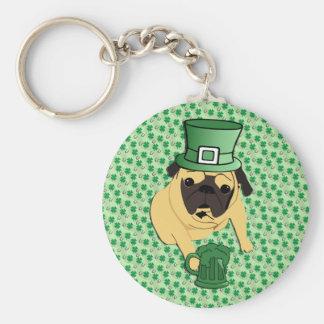 El barro amasado irlandés de St Patrick divertido Llavero Redondo Tipo Pin