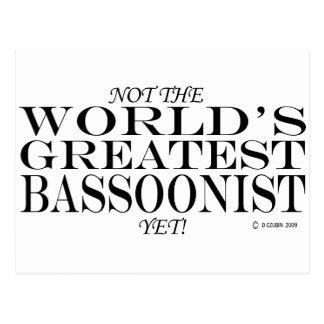 El Bassoonist más grande todavía Tarjeta Postal