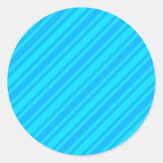 El BASTÓN de CARAMELO de los azules RAYA el FONDO Pegatina Redonda