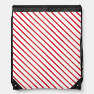 El bastón de caramelo del navidad raya el modelo mochilas