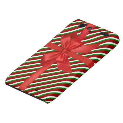 El bastón de caramelo del navidad raya la cubierta motorola droid RAZR carcasa