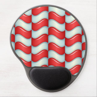 El bastón de caramelo raya el modelo alfombrillas de ratón con gel