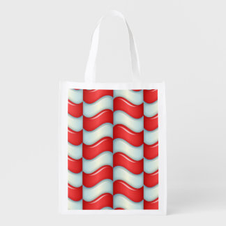 El bastón de caramelo raya el modelo bolsa reutilizable