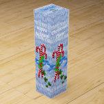 El bastón de caramelo trata personalizado caja de vino