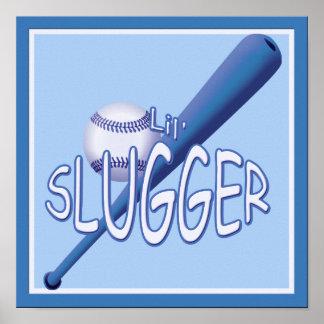 El bateador del lil del béisbol embroma el poster
