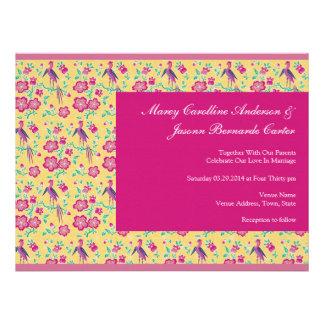 El batik de Sakura raya el boda grande rosado invi
