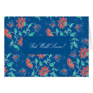 El batik floral de Aiyana consigue la tarjeta bien