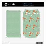 El batik floral HTC de Naila inspira la piel 4G Skins Para HTC Inspire 4G