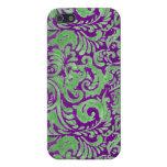 El batik púrpura/verde inspiró el caso del iPhone  iPhone 5 Protector