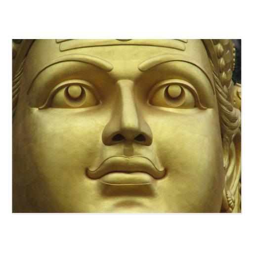 el batu excava la cara del oro tarjeta postal