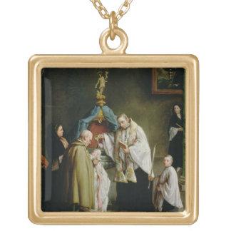 El bautismo collar dorado