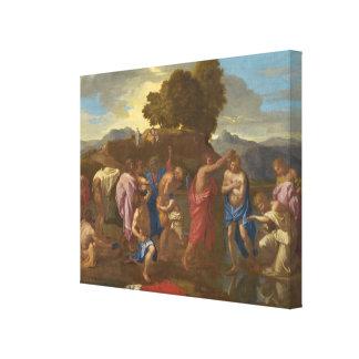 El bautismo de Cristo, 1641-42 Lona Envuelta Para Galerias