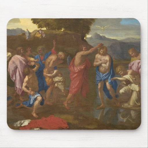 El bautismo de Cristo, 1641-42 Alfombrilla De Raton