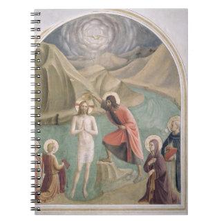 El bautismo de Cristo, c.1438-45 (fresco) Spiral Notebook