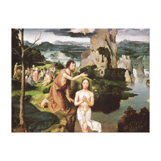 El bautismo de Cristo, c.1515 Impresión En Lona