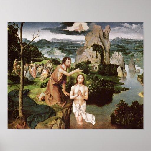 El bautismo de Cristo, c.1515 Póster