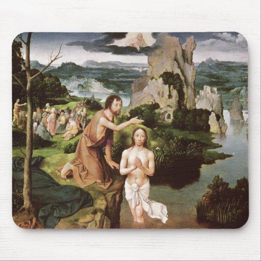 El bautismo de Cristo, c.1515 Alfombrilla De Ratón