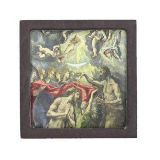 El bautismo de Cristo, c.1597 (aceite en lona) Caja De Recuerdo De Calidad