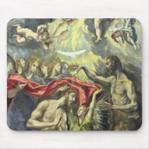 El bautismo de Cristo, c.1597 (aceite en lona) Alfombrilla De Raton