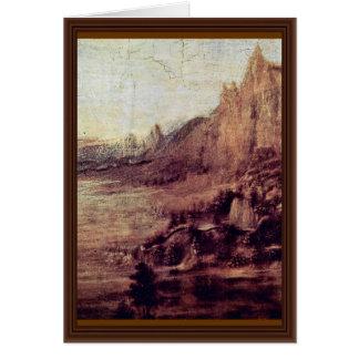 El bautismo de Cristo de Andrea del Verrocchio (B Tarjeta De Felicitación