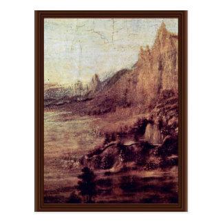El bautismo de Cristo de Andrea del Verrocchio (B Tarjetas Postales