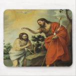 El bautismo de Cristo de Bartolome Esteban Murillo Alfombrilla De Ratón