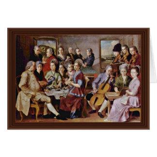 El bautismo de Cristo de Conte Jacopo Del (el mejo Tarjeta De Felicitación