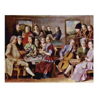 El bautismo de Cristo de Conte Jacopo Del (el mejo Tarjeta Postal