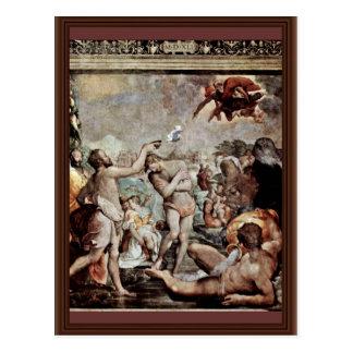 El bautismo de Cristo de Conte Jacopo Del (el mejo Postales
