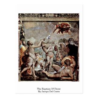 El bautismo de Cristo de Jacopo Del Conte Tarjetas Postales