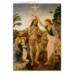 El bautismo de Cristo de San Juan Bautista Tarjeton
