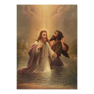 """El bautismo de Cristo de una reina más llena 1873 Invitación 5"""" X 7"""""""