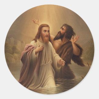 El bautismo de Cristo de una reina más llena 1873 Pegatina Redonda