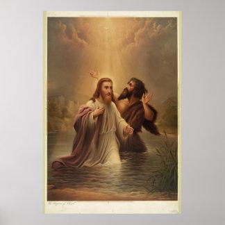 El bautismo de Cristo de una reina más llena 1873  Póster