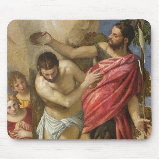El bautismo de Cristo Tapetes De Raton