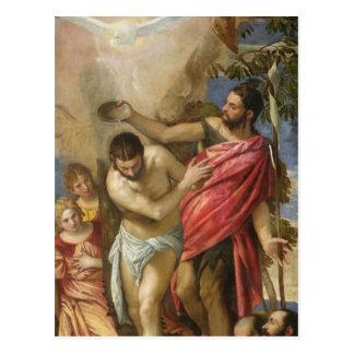 El bautismo de Cristo Postal