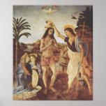 El bautismo de Cristo (Verrocchio) Poster