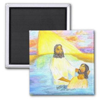 El bautismo de Jesús Imán Cuadrado