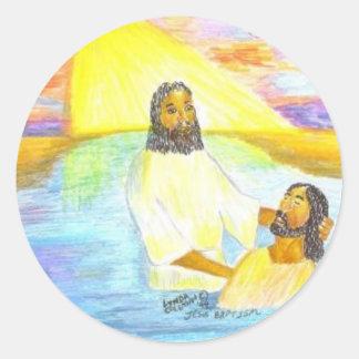 El bautismo de Jesús Pegatina Redonda