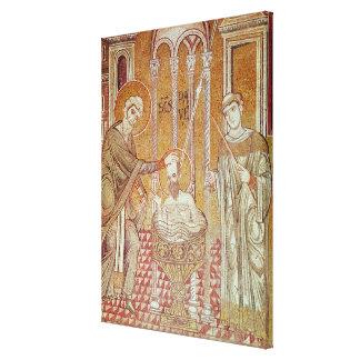 El bautismo de San Pablo por Ananias Impresiones En Lona