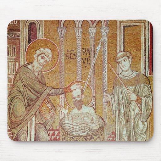 El bautismo de San Pablo por Ananias Alfombrillas De Ratones