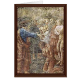 El bautismo de un convertido por Masaccio (la mejo Tarjeta De Felicitación