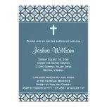 El bautismo/el bautizo azules invita (ninguna invitacion personalizada