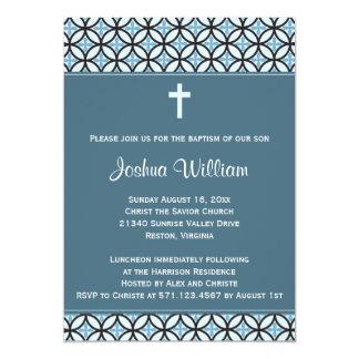El bautismo/el bautizo azules invita (ninguna invitación 12,7 x 17,8 cm