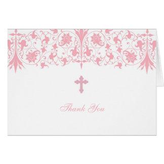 El bautismo elegante ortodoxo le agradece cardar tarjeta pequeña
