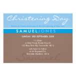 El BAUTISMO INVITA a la moca azul maravillosa simp Invitaciones Personalizada