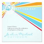 EL BAUTISMO INVITA:: paloma moderna 5SQ Invitación Personalizada
